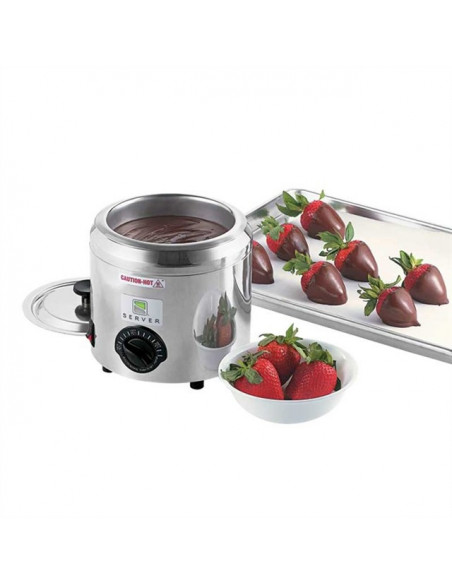 Server Warmer with bowl, lid & ladle