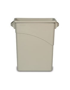 Rubbermaid FG354100LGRAY Slim Jim Wall Hugger Trash Can