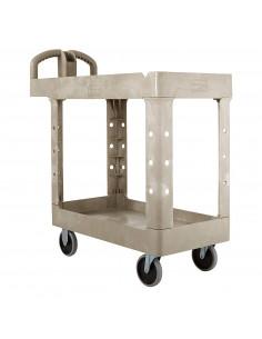 Rubbermaid Cart,Utility,Beige,39X18X33,500 Lbcap.