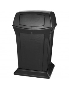 Rubbermaid Ranger Black 45 Gallon Container With 2 Doors