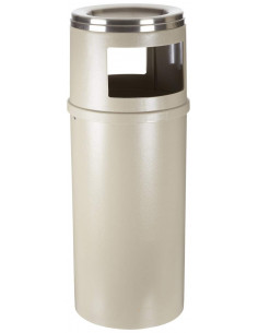Rubbermaid Ash-Trash Beige 25 Gallon Container With Door