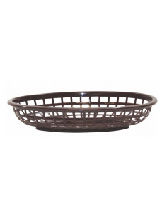 Tablecraft Brown Classic Oval Plastic Basket