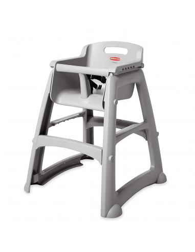 Rubbermaid Platinum Restaurant High Chair Without Wheels - Assembled