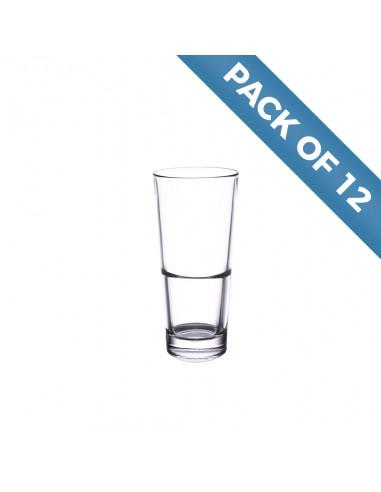 Libbey 15715 Endeavor 16 oz. Stackable Cooler Glass Pack of 12