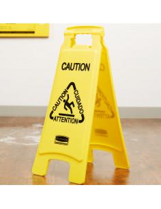 Bilingual Caution Floor-Standing Sign