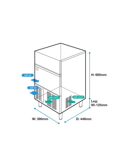 Hoshizaki IM-30CNE(50Hz) Air Cooled Self Contained Ice Machine