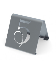 Miran Stainless steel Tabletop cutout numbers sign - modern style 1 – 25