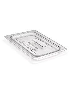 Cambro Camwear 1/4 Size Clear Poly-carbonate Handled Lid