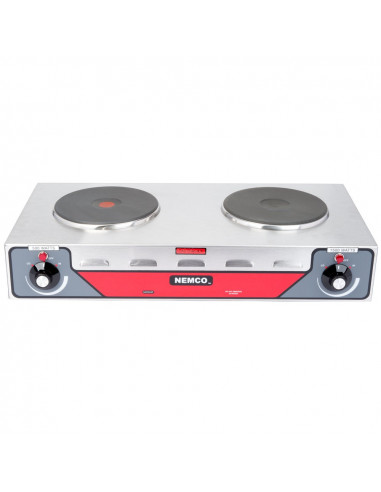 Nemco 6310-2-240  Electric Countertop Horizontal Hot Plate with 2 Solid Burners