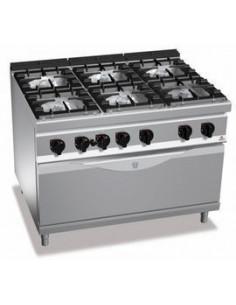 Bertos G9F6+T 6 Burners Gas Range With Oven