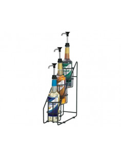 Server 3-tiered 1L syrup bottle organizer