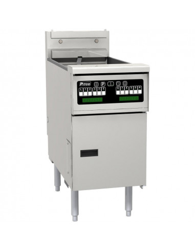 Pitco SE14S-C-F-FD Twin Basket Single Pot Electric Computer Controlled Stand Alone Fryer With Filter Drawer