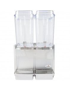 Crathco D25-3 Double 5 Gallon Bowl Stainless Steel Refrigerated Beverage Dispenser