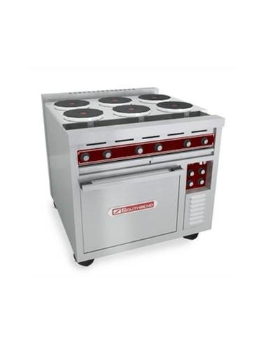 """Southbend SE36D-BBB 36"""" Electric Range w/ 6-Hot Plates And Oven"""