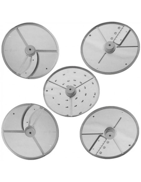 Pack of 5 Slicer, Grater and Julienne discs
