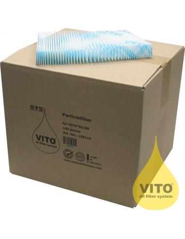 Vito PE100 V50/V80 Cellulose particle filter (100 pieces)