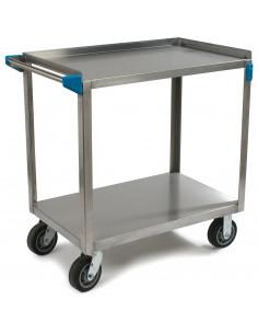 Carlisle UC7022133 2-Level Stainless Utility Cart