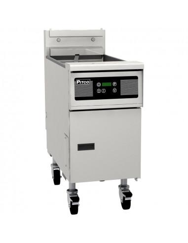 Pitco SG14TS-D Split Pot Gas Floor Fryer with Digital Controls