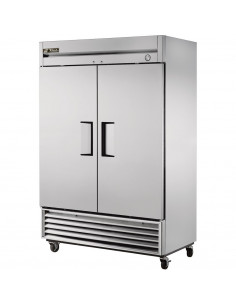 True T-49F-220V Two Section Solid Door Reach in Freezer