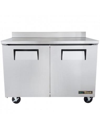 True TWT-48F-220V Two Door Worktop Freezer