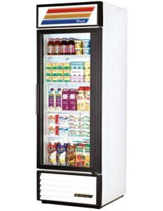True GDM-23-LD White Glass Door Refrigerated Merchandiser