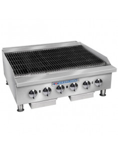 Bakers Pride BPXP-GCRB-48i Countertop GAS Lava Rock Charbroiler 48""